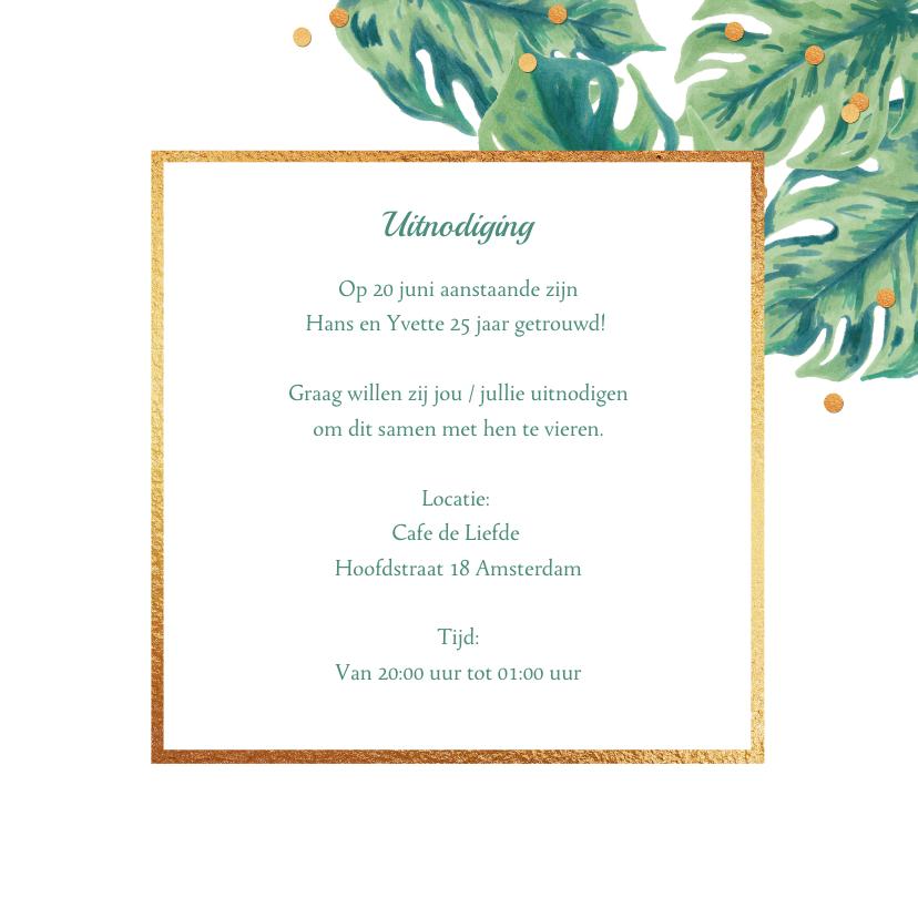 Uitnodiging huwelijksjubileum botanical foto 3