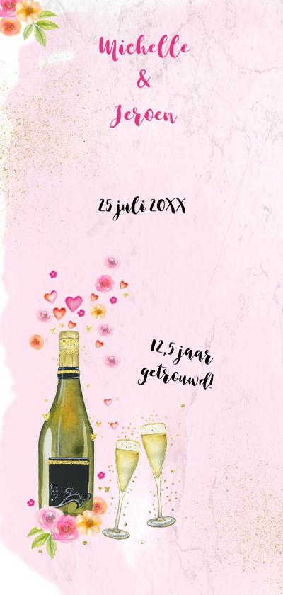Uitnodiging huwelijksjubileum champagne 2