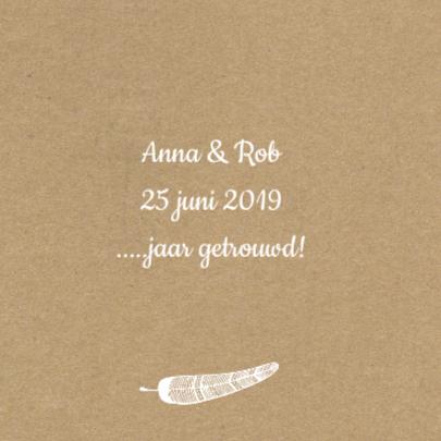 uitnodiging jaar getrouwd veren 2
