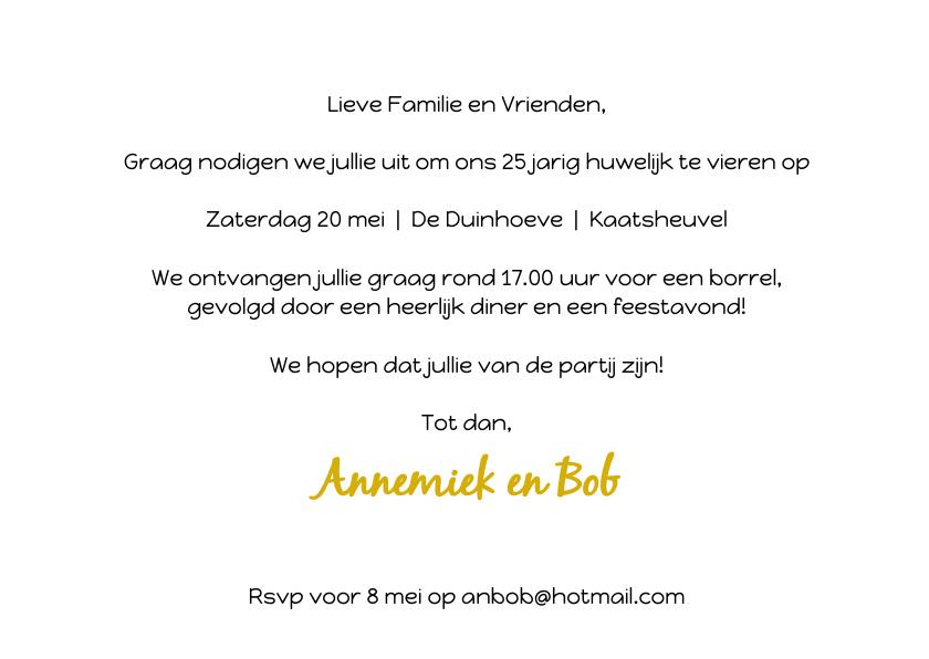 Uitnodiging Jubileum ballonnen goud 3
