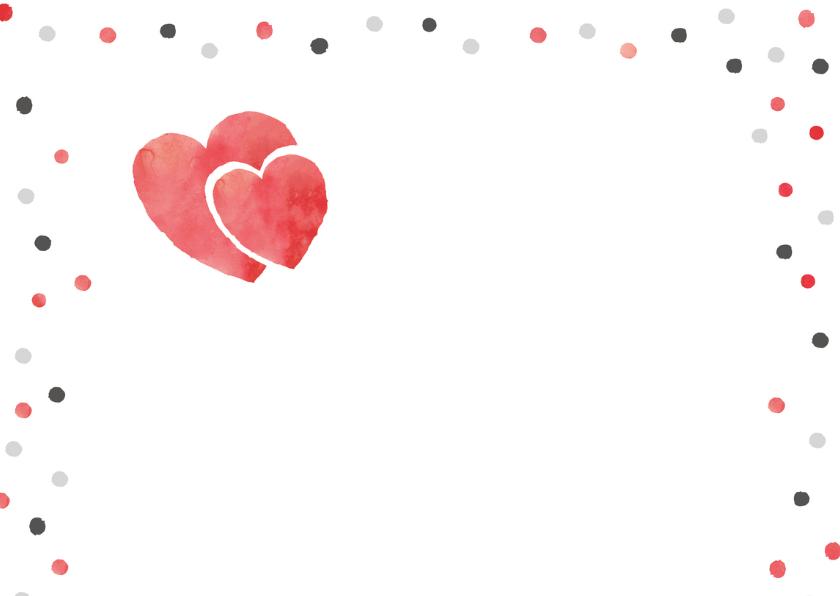 Uitnodiging jubileum foto, confetti, hartjes 2