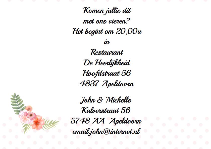 Uitnodiging jubileum hart label 3