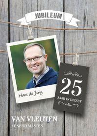 Jubileumkaarten - Uitnodiging jubileum medewerker
