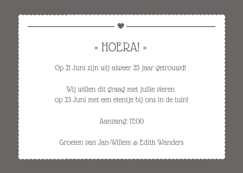 Uitnodiging Jubileum Tekstvlak 3