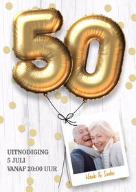 Jubileumkaarten - Uitnodiging jubileumhuwelijk 50 jaar
