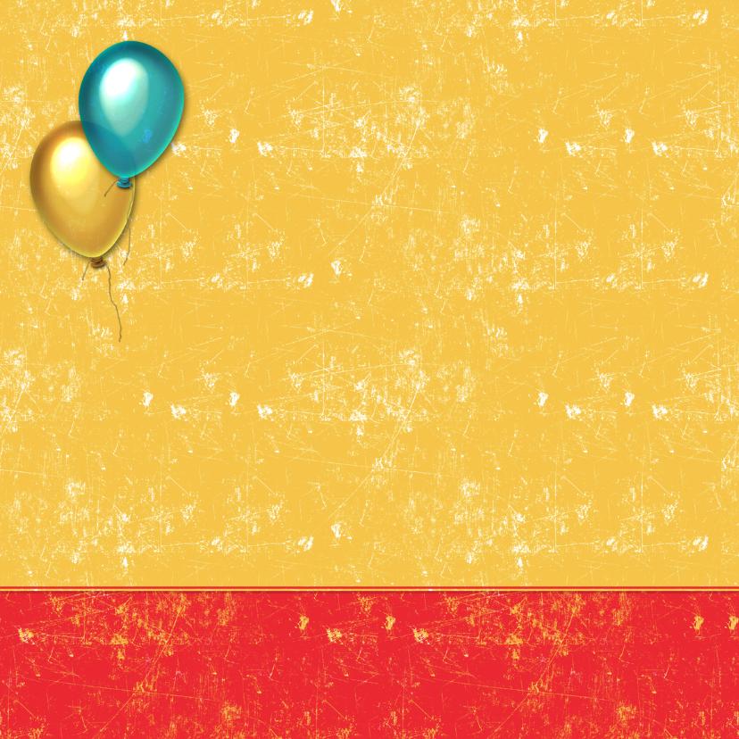 uitnodiging kinderfeest ballon 2