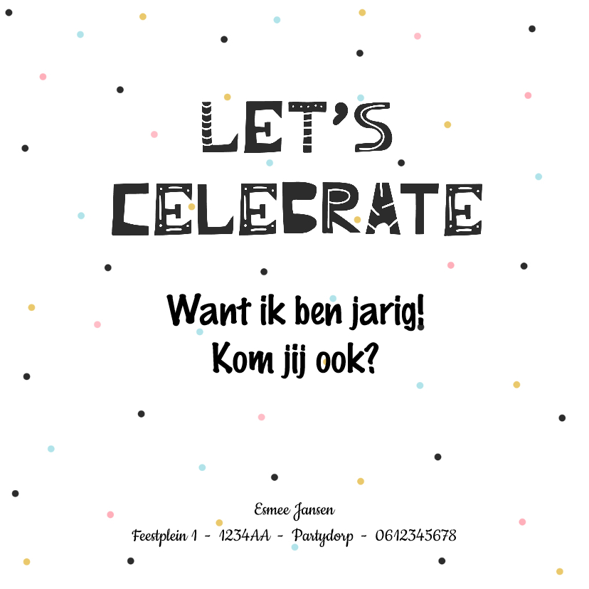 Uitnodiging kinderfeestje met trendy lama 2