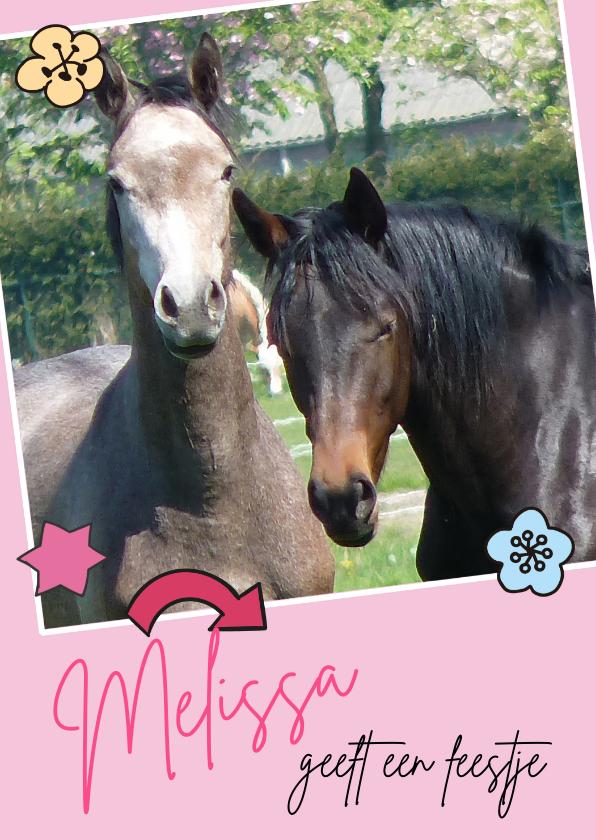 Zeer Uitnodiging Kinderfeestje paarden - Kinderfeestjes - Kaartje2go &HJ18