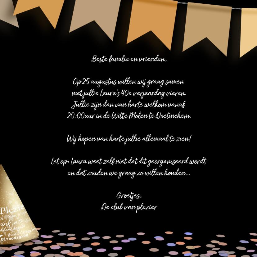 Uitnodiging krijtbord confetti en slinger 3
