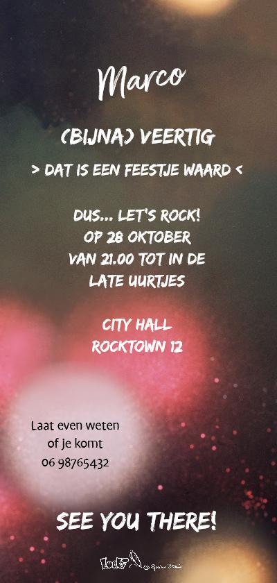 Uitnodiging Loeki discofeest - A achterkant