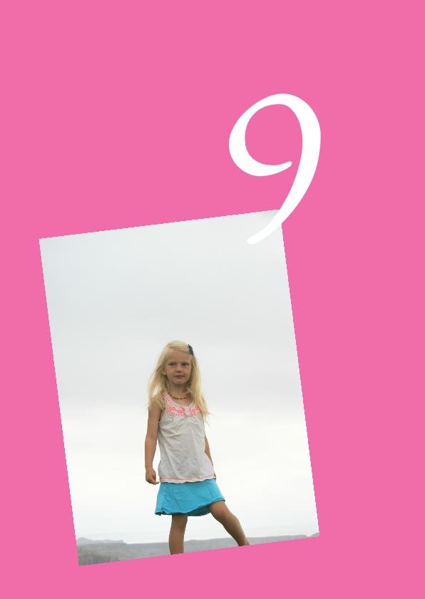 Uitnodiging meisje roze 2