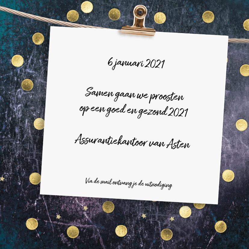 Uitnodiging nieuwjaarsborrel confetti 3