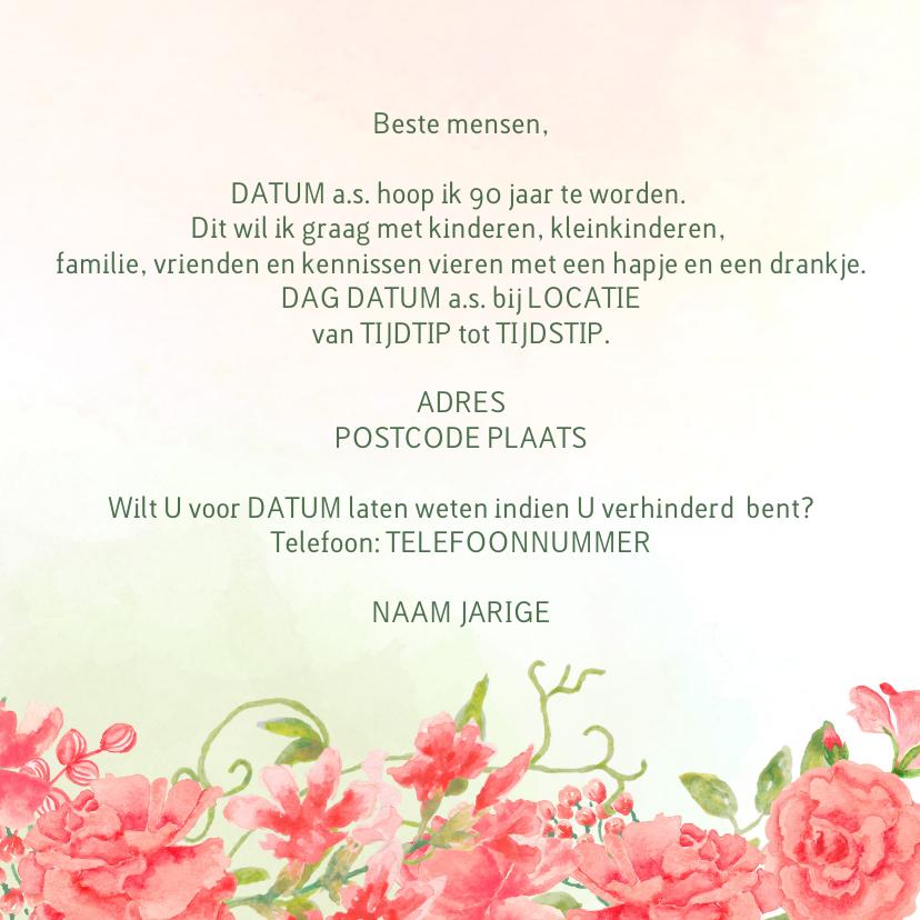 Uitnodiging oranje-rode rozen 3