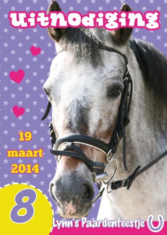 Fabulous Uitnodiging Paardenfeestje - Kinderfeestjes - Kaartje2go #IM02