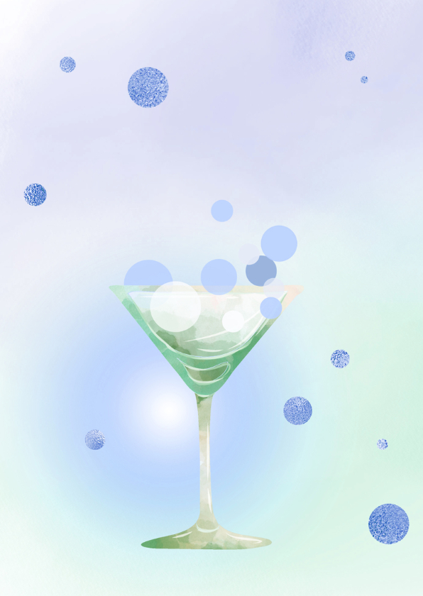 Uitnodiging Party - blauw 2