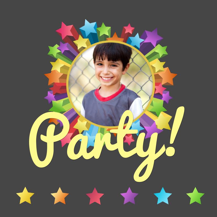 Uitnodiging party sterren hip 2