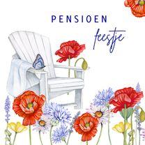 Uitnodigingen - Uitnodiging pensioen klaprozen
