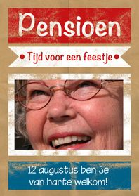 Uitnodigingen - Uitnodiging pensioen papier