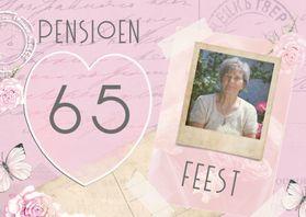 Uitnodigingen - uitnodiging pensioen vintage