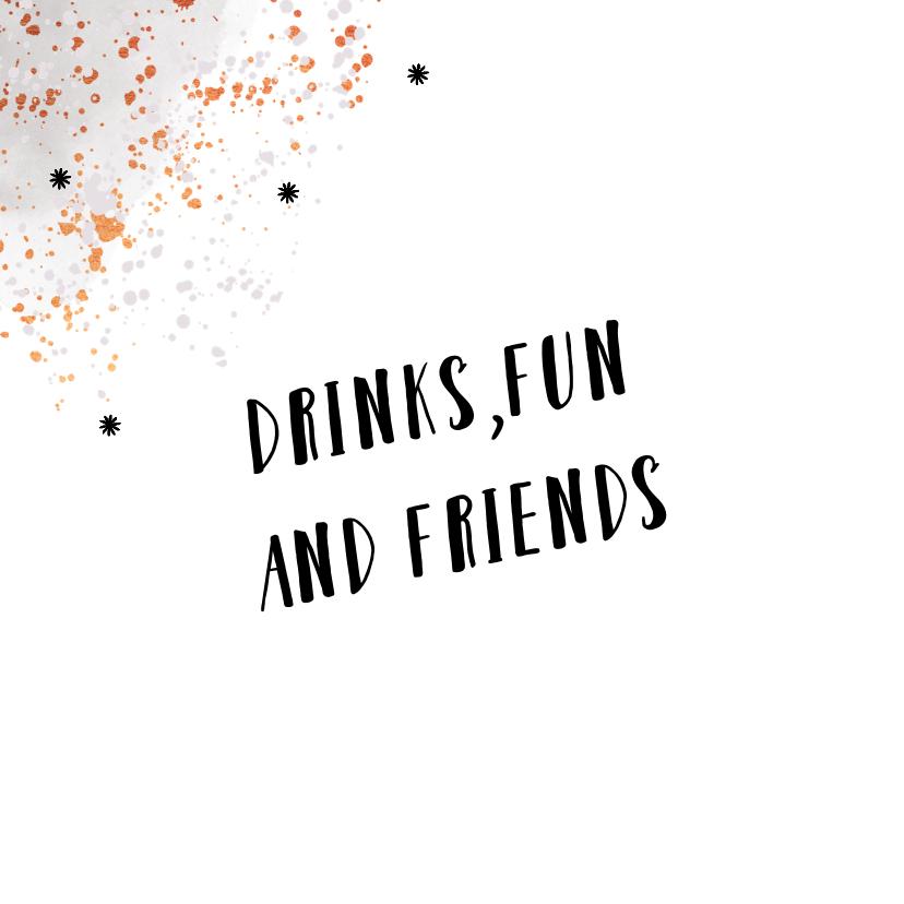 Uitnodiging pop the champagne feestje borrel  2