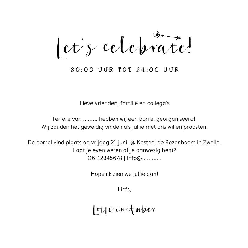Uitnodiging pop the champagne feestje borrel  3