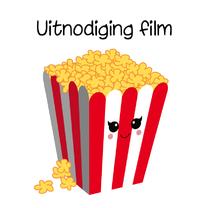 Uitnodigingen - Uitnodiging popcorn kaart