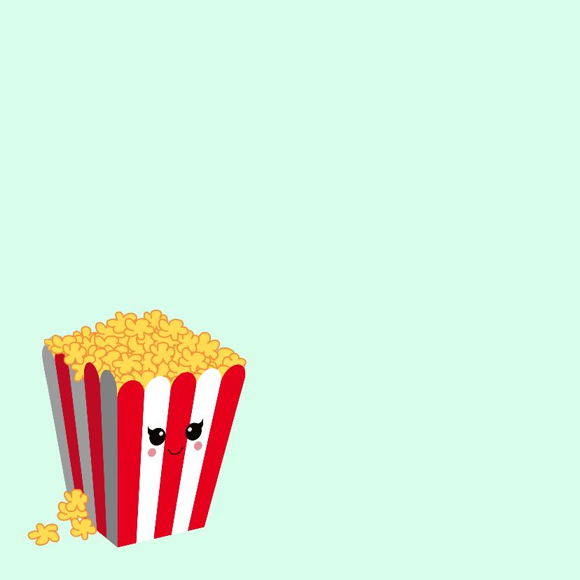 Uitnodiging popcorn kaart 2
