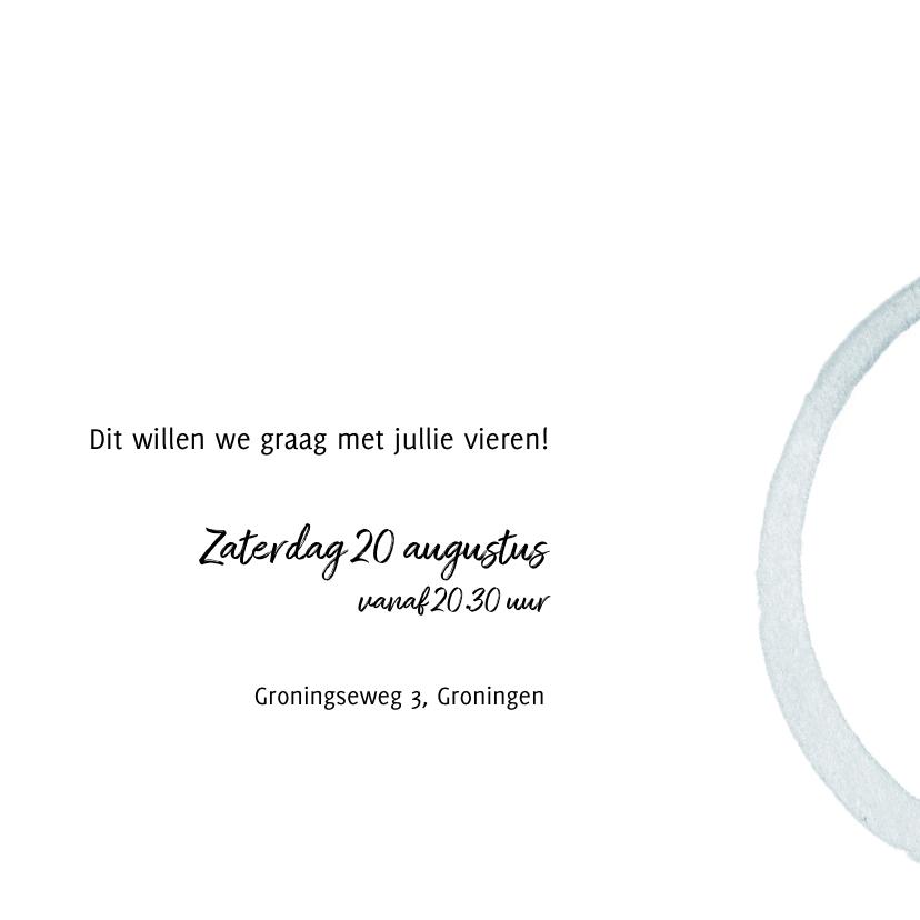 Uitnodiging 'Samen 70' met foto en cirkels 3
