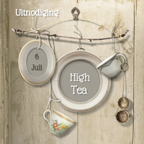 Uitnodigingen - Uitnodiging Scrapbook High Tea - SG