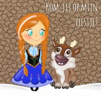 Kinderfeestjes - Uitnodiging sneeuw prinses - TbJ