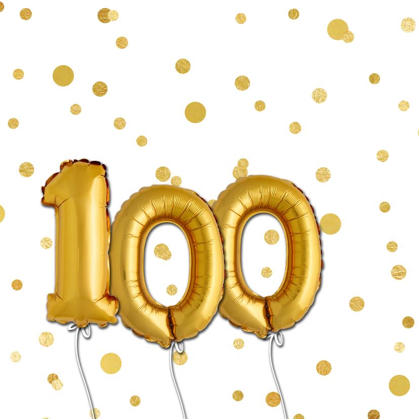 Uitnodiging stip ballon 100 - SG 2