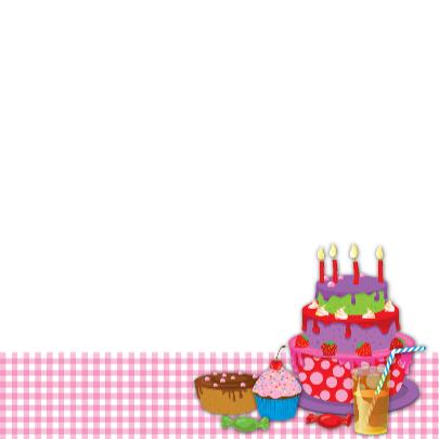uitnodiging taart eigen naam & leeftijd meisje 3