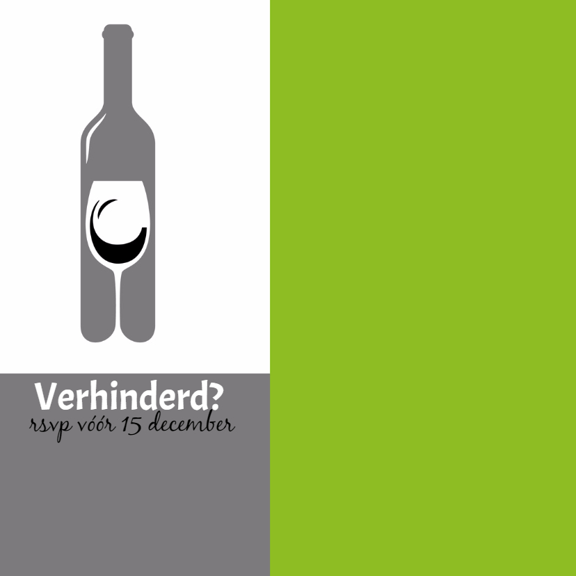 Uitnodiging tekst en wijn - SZ 2