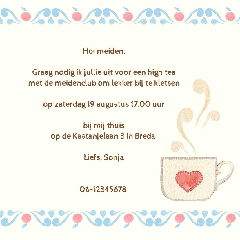 Uitnodiging thee met gebak 3