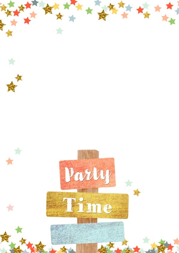 Uitnodiging trendy fotokaart met sterren en tekst borden 2
