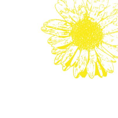 Uitnodiging tuinfeest bloemen vrolijk 3