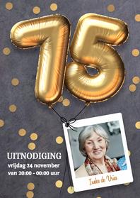 Uitnodigingen - Uitnodiging verjaardag 75 jaar