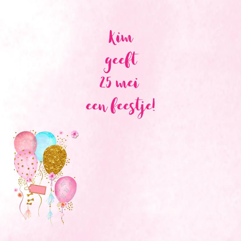 Uitnodiging verjaardag ballonnen 2