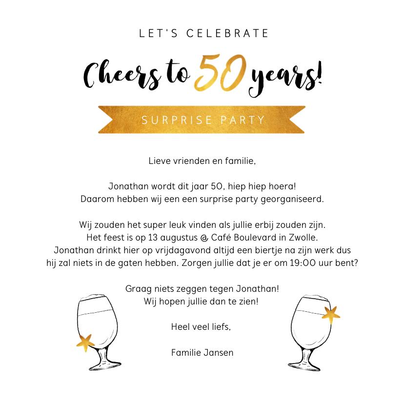 Uitnodiging verjaardag confetti 50 jaar 3