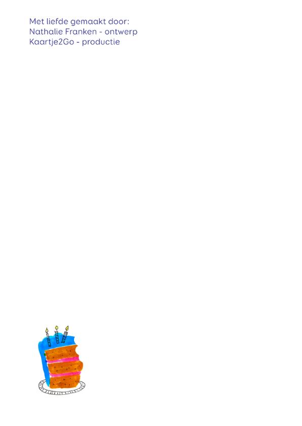 Uitnodiging verjaardag EAT MORE CAKE CliniClowns 2