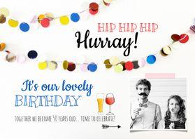 Uitnodigingen - Uitnodiging verjaardag feest biertje wijn