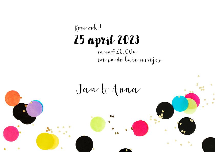 Uitnodiging verjaardag feest hip 3