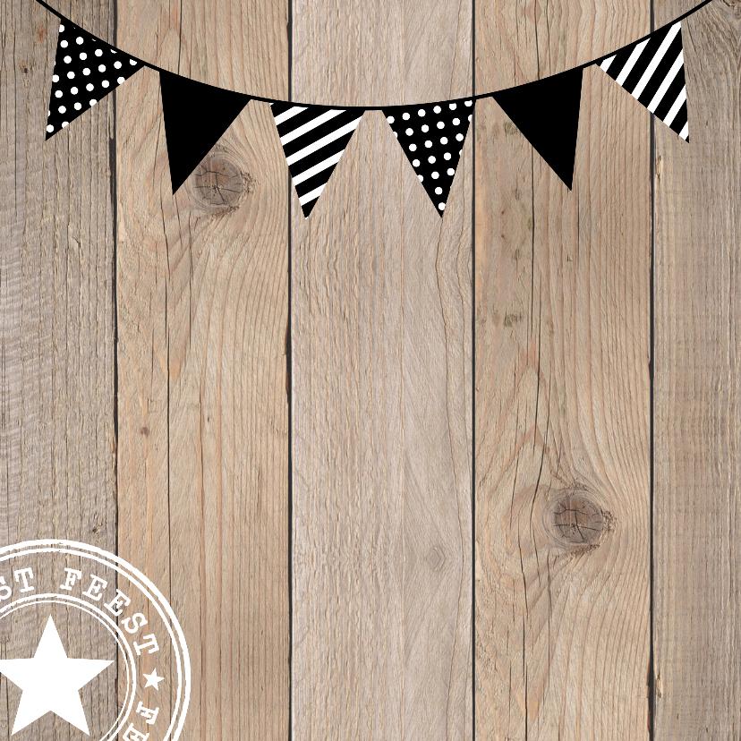 Uitnodiging verjaardag feest hout slinger 2