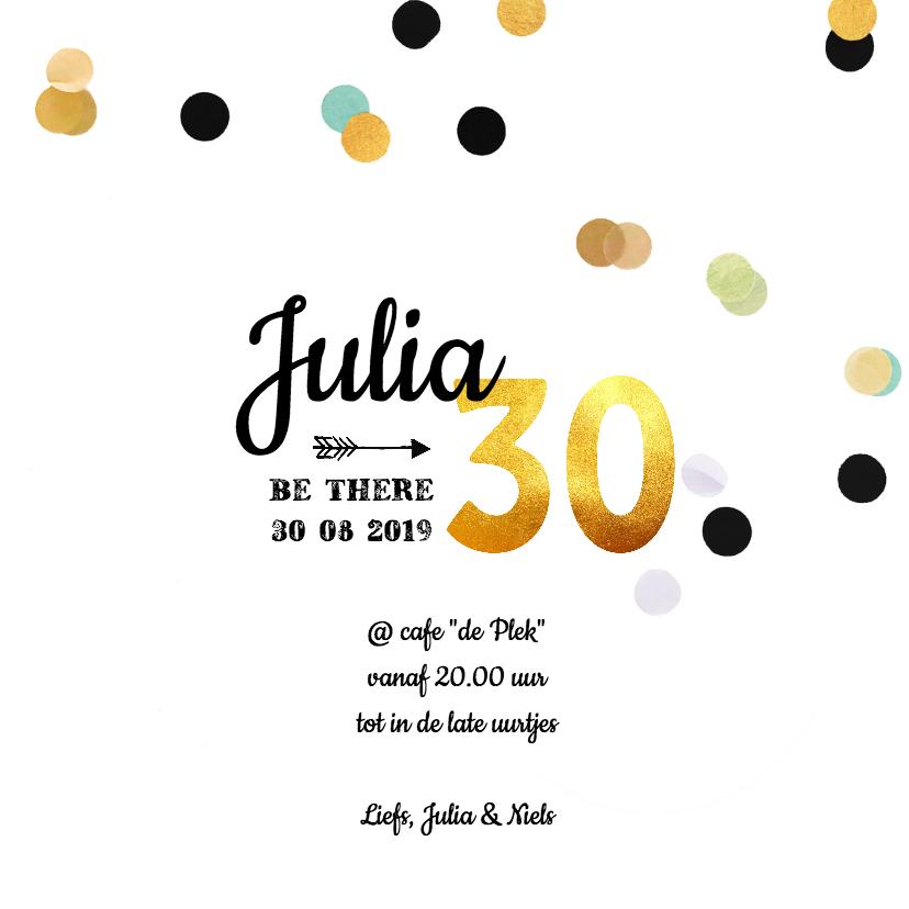 Uitnodiging verjaardag goud 30 3