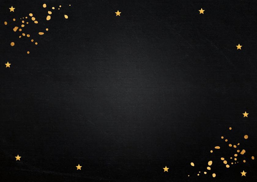 Uitnodiging verjaardag goud confetti typografie 2