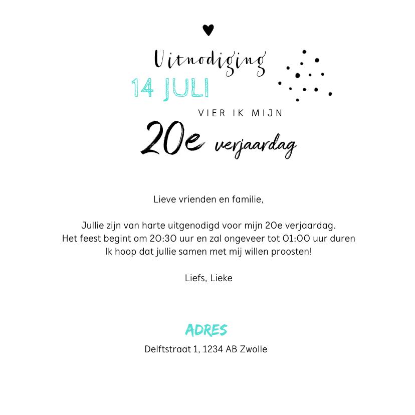 Uitnodiging verjaardag hip met eigen foto en champagneglazen 3