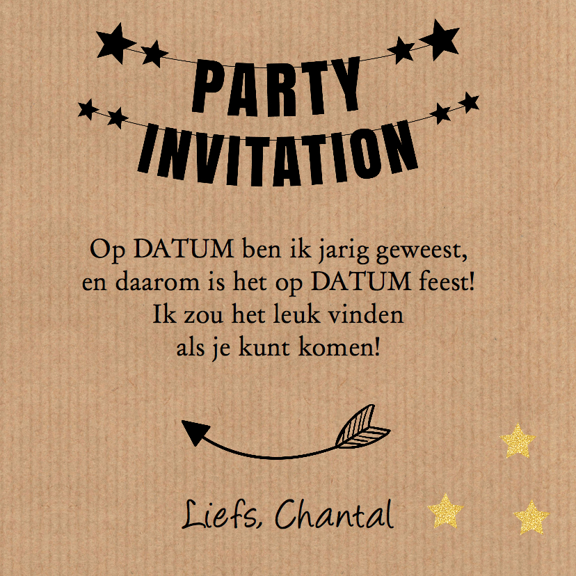 Uitnodiging verjaardag kraft slinger 3