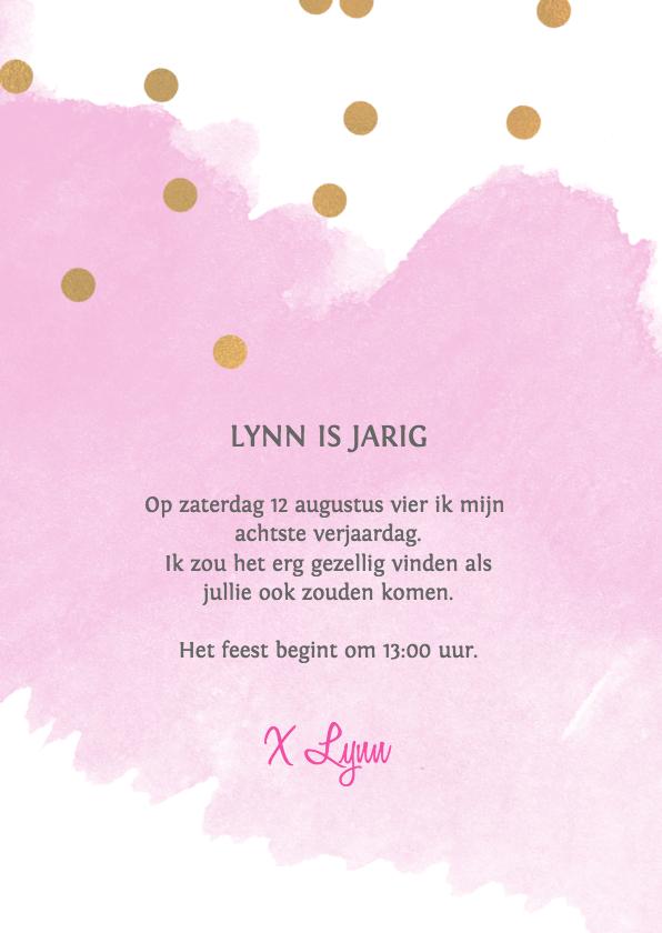 Uitnodiging verjaardag meisje 8 jaar 2