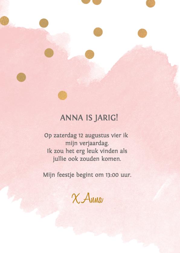 Uitnodiging verjaardag meisje 9 jaar 2