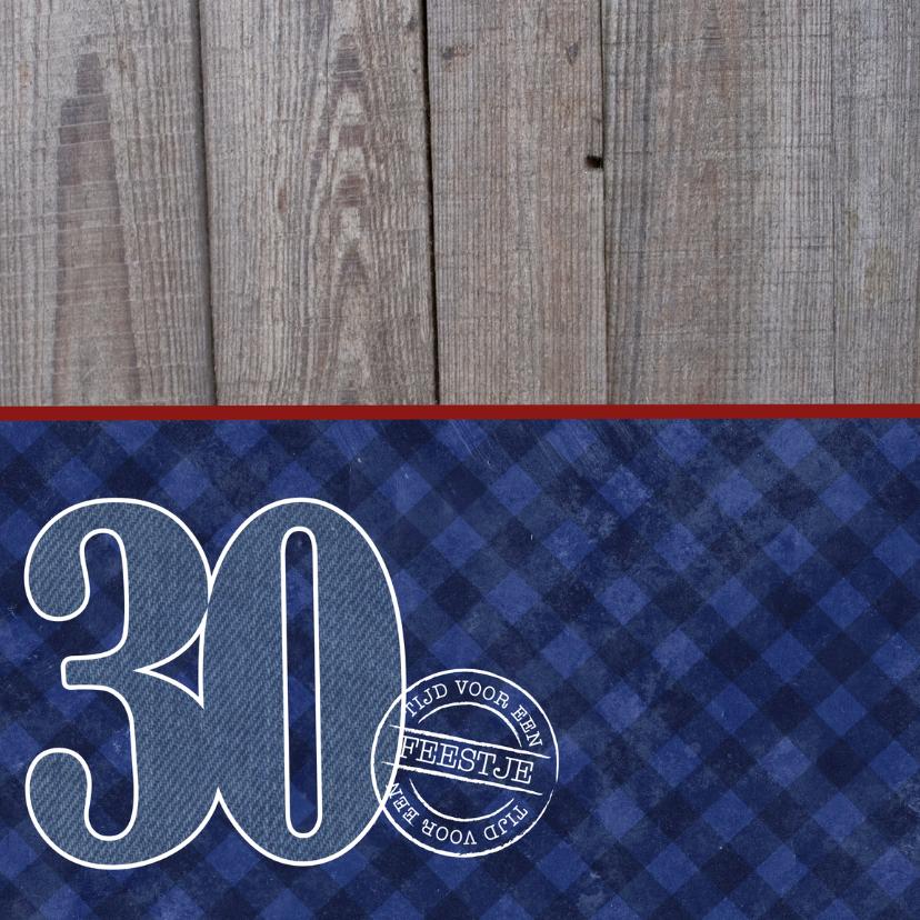 Uitnodiging verjaardagsfeest man 30 stoer 2